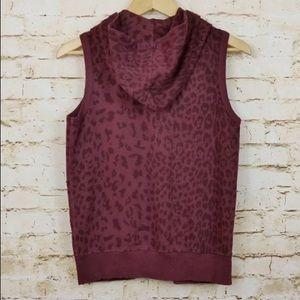 Current/Elliott Jackets & Coats - Current Elliott Sleeveless Zip Hoodie Leopard Vest